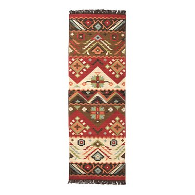 Double Mountain Hand Woven Wool Multi-Colored Area Rug Rug Size: Runner 26 x 8