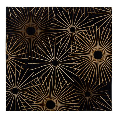 Deweese Black Area Rug Rug Size: Square 4