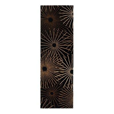 Deweese Black Area Rug Rug Size: Runner 3 x 12