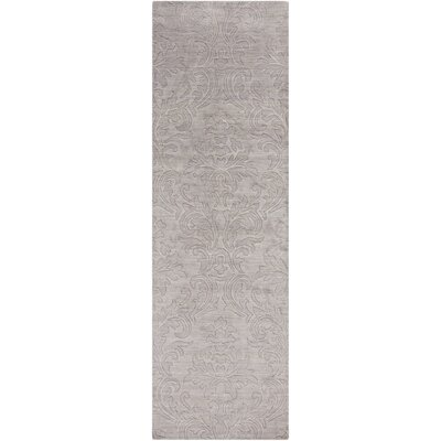 Gallaher Light Gray Mist Area Rug Rug Size: Runner 26 x 8