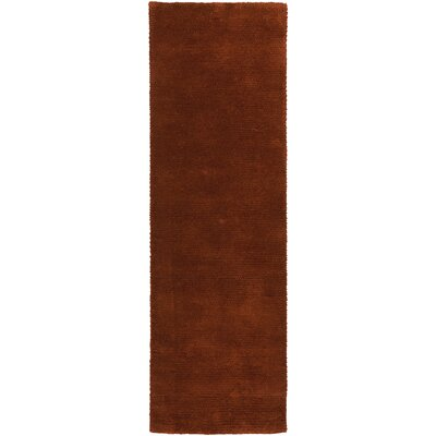 Cambria Handmade Red Area Rug Rug Size: 5 x 8