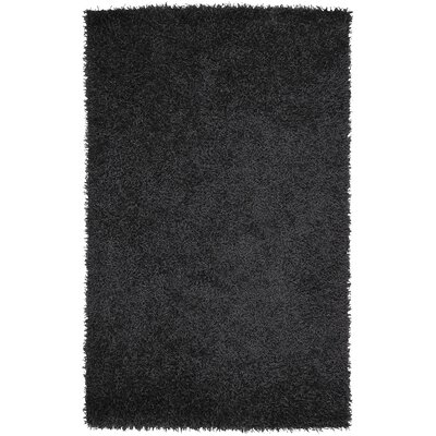 Bonomo Black Area Rug Rug Size: Rectangle 36 x 56