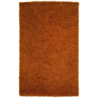 Bonomo Burnt Orange Area Rug Rug Size: Round 10