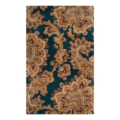 Busch Teal & Brown Area Rug Rug Size: Rectangle 2 x 3