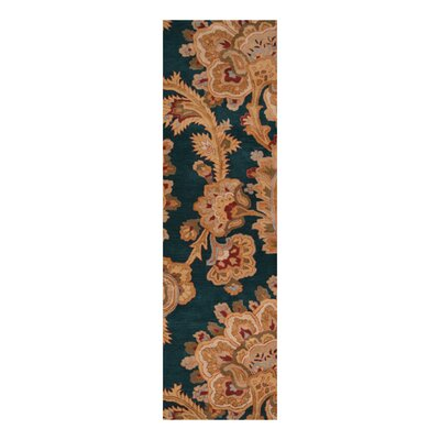 Busch Teal & Brown Area Rug Rug Size: Runner 26 x 8