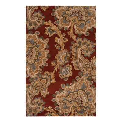 Busch Rust & Red Area Rug Rug Size: 5 x 8