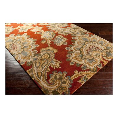 Busch Rust & Red Area Rug