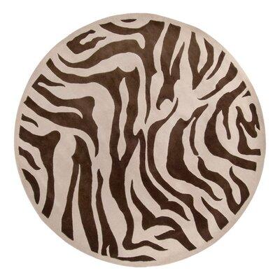 Akiva Zebra Print Area Rug Rug Size: Round 79