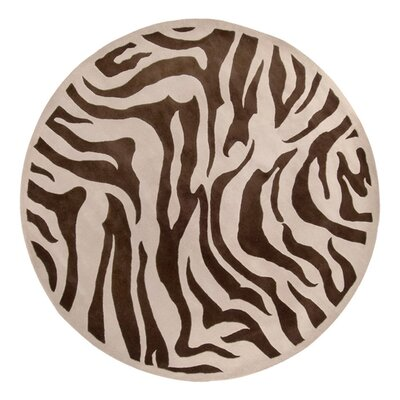 Akiva Zebra Print Area Rug Rug Size: Runner 26 x 8