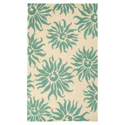 Waters Teal/Green Area Rug Rug Size: 2 x 3
