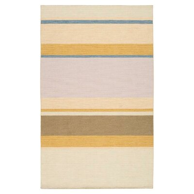 Carressa Old Gold/Barley Striped Area Rug Rug Size: Rectangle 2 x 3