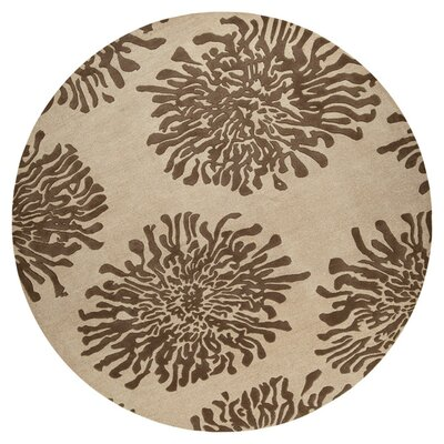 Parson Camel Area Rug Rug Size: Round 8