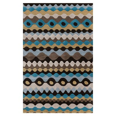 Luray Hand-Tufted Blue/Yellow Area Rug Rug Size: Rectangle 8 x 11