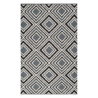 Halycon Pewter/Jet Black Area Rug Rug Size: Rectangle 33 x 53