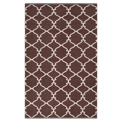 Ravenna Dark Chocolate Area Rug Rug Size: 2' x 3'