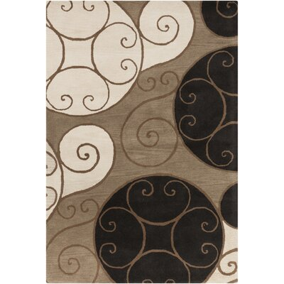 Athena Brown Area Rug Rug Size: Oval 6' x 9'