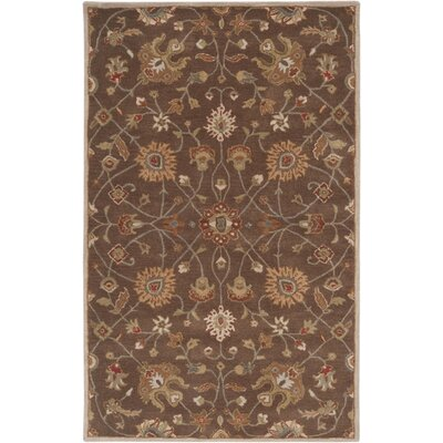 Surya Caesar Dark Brown Floral Area Rug - Rug Size: Square 4'