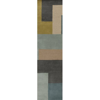 Sturbridge Midnight Green/Slate Gray Rug Rug Size: Runner 26 x 8