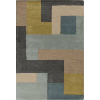 Sturbridge Midnight Green/Slate Gray Rug Rug Size: Rectangle 5 x 8