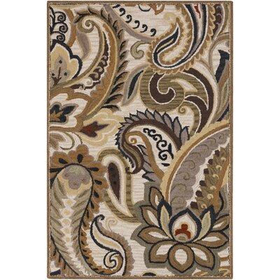 Nala Dark Taupe Rug Rug Size: Rectangle 5 x 8