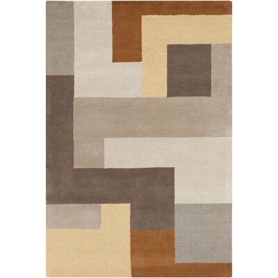 Sturbridge Oyster Gray/Golden Brown Rug Rug Size: Rectangle 5 x 8