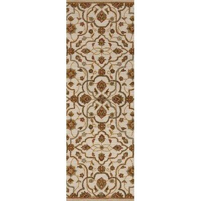 Burwood Parchment Rug Rug Size: Runner 26 x 8