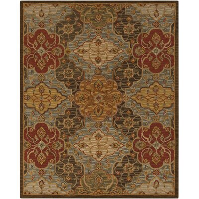 Burwood Fatigue Green Rug Rug Size: 5 x 8