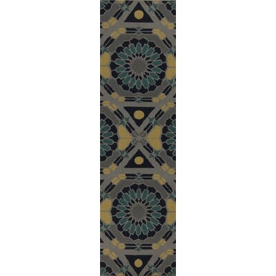 Kaleidoscope Dove Gray/Alpine Green Rug Rug Size: Runner 26 x 8