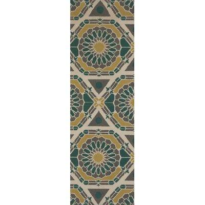 Kaleidoscope Kelp Brown/Pewter Rug Rug Size: Runner 26 x 8