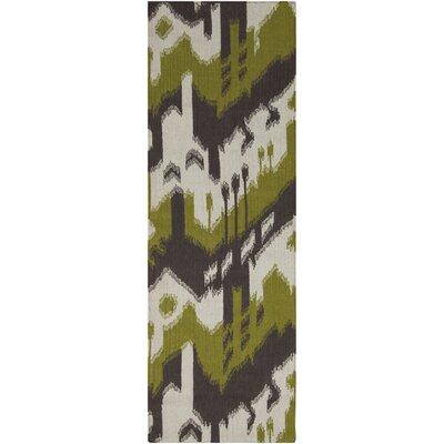 Cerrone Wenge/Wasabi Rug Rug Size: Runner 26 x 8