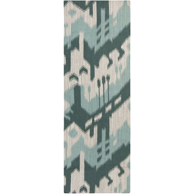 Cerrone Peacock Green/Blue Haze Rug Rug Size: Runner 2'6