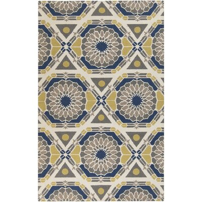 Alicia Bone/Iron Ore Rug Rug Size: Rectangle 2 x 3