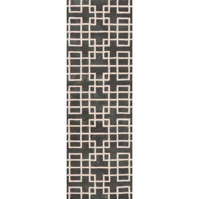 Jessenia Pewter Area Rug Rug Size: Runner 26 x 8