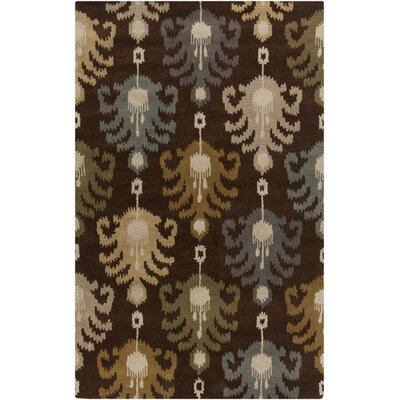 Romulus Dark Chocolate Area Rug Rug Size: 5 x 8