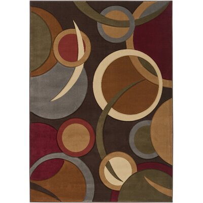 Maire Espresso Area Rug Rug Size: Rectangle 53 x 73