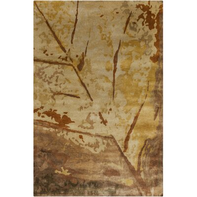 Lilou Tea Leaves Olive Area Rug Rug Size: Rectangle 5 x 76