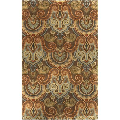 Blanche Tawny Brown Area Rug Rug Size: Rectangle 33 x 53