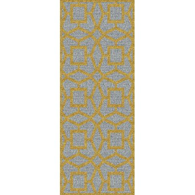 Lozano Silvered Gray/Yellow Area Rug Rug Size: Runner 26 x 8