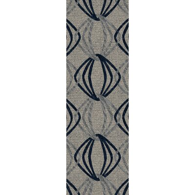 Stow Light Gray/Blue Area Rug Rug Size: Runner 26 x 8
