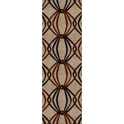 Stow Beige/Black Area Rug Rug Size: Runner 26 x 8