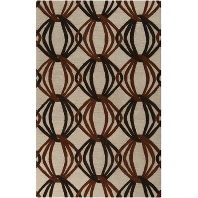 Stow Beige/Black Area Rug Rug Size: Rectangle 5 x 8