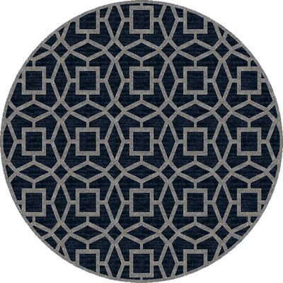 Lozano Midnight Blue Area Rug Rug Size: Round 8