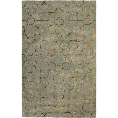 Jensen Foggy Blue Area Rug Rug Size: Rectangle 5 x 8