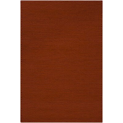 Jaxton Burnt Red Area Rug Rug Size: 8 x 10