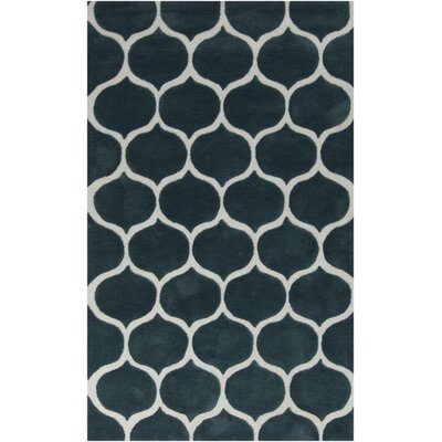Cortez Teal Blue/Peach Cream Rug Rug Size: 5 x 8