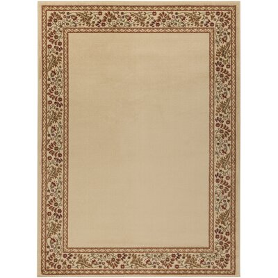 Arbus Green/Golden Brown Rug Rug Size: Rectangle 53 x 73