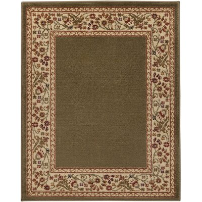 Arbus Green/Carmine Area Rug Rug Size: Rectangle 67 x 98