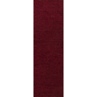 Griffith Maroon Red Area Rug Rug Size: Runner 26 x 8