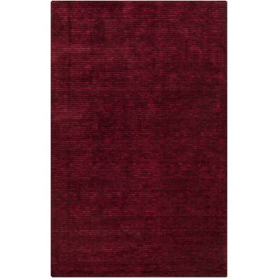 Griffith Maroon Red Area Rug Rug Size: Rectangle 5 x 8