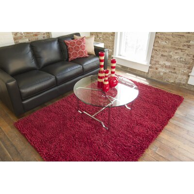 Bonney Red Area Rug Rug Size: Round 10